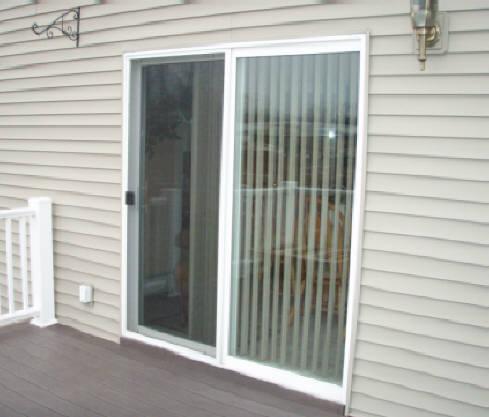 Patio doors for Sliding glass doors onto deck